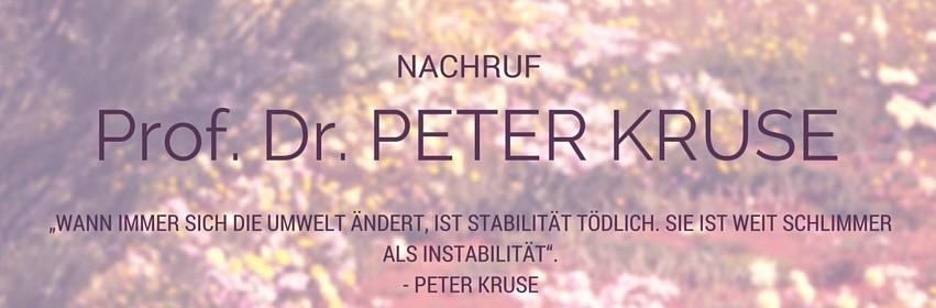 Nachruf Peter Kruse